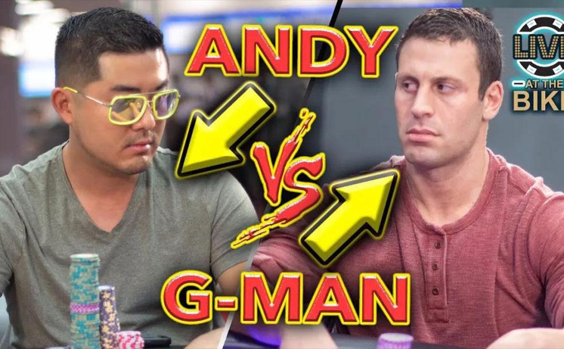 Garett Adelstein与Andy Tsai的对决 这手英雄跟注 说明了下注模式和彩池赔率有重要